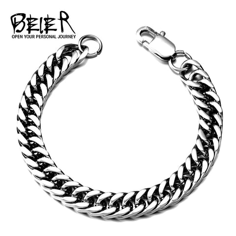 BEIER Dropshipping 316L Stainless Steel High Polish Bracelet Snail  Fashion Jewelry for man women BR-C006