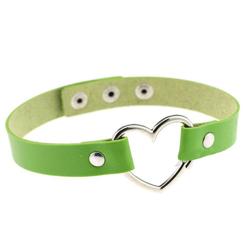 8 Color High Quality Hot Wholesale Bracelet Heart Shape Bracelet&Bangles Leather Bracelets For Women Punk Lovers Jewelry BW663