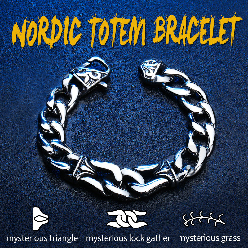 BEIER Wholesale Price Punk 316L Stainless Steel Love Bracelet Nordic Viking Jewelry For Man Drop Shipping   BC8-006