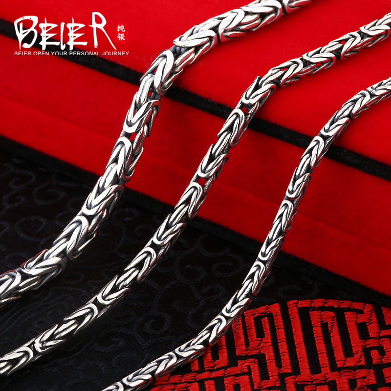 Beier new store 100% 925 silver sterling necklaces pendants trendy fine jewelry chains  for women/men Gift BR-XL002