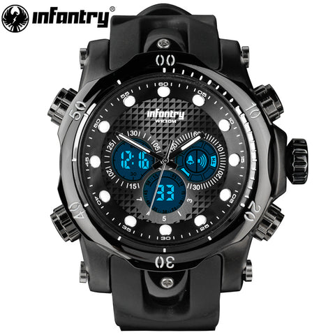 Men Watches Luxury Casual Men Watches INFANTRY Analog Military Sports Watch Big Dial Quartz Wristwatches Relogio Masculino 2018