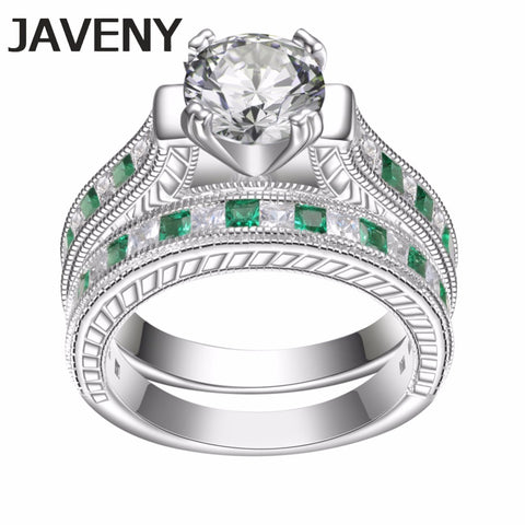 925 Sterling Silver Princess Cubic Zirconia Womens Girls Engagement Wedding Bridal Rings Sets Birthday Gifts 8pcs Lots Wholesale