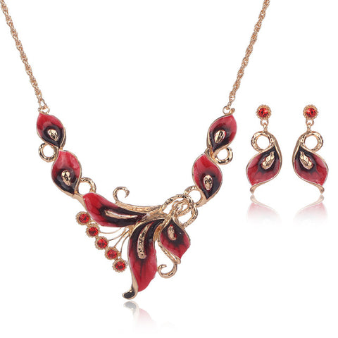 OUMEILY Jewelry Sets Women Gift Indian Bridal African Dubai Nigerian Beads Necklace Jewelry Set For Weddings Crystal Jewellery