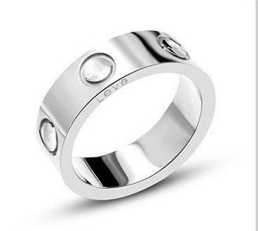316L Stainless Steel logo carter Love rings For Women Men wedding couple ring Logo Pulseira feminina jewelry