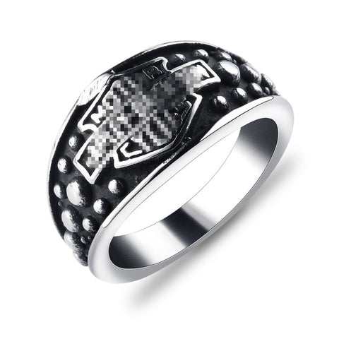 Gothic harley Motorcycle Rings for Men Retro Never Fade Stainless Steel Ring Size 8-15 Biker Bague Punk Jewelry