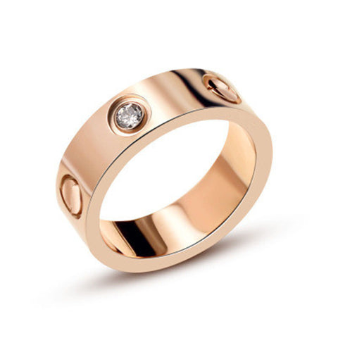 New Titanium Steel carter Love Rings for Women Men Couples Anel Cubic Zirconia Wedding Ring Bands Logo Pulseira feminina jewelry