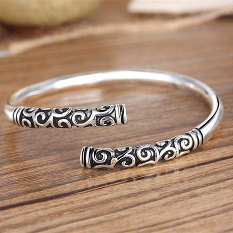 SHUANGR Unique Kingly Charm Chinese Myth Of The Monkey King Bangle Opening Retro Male And Female Energy Lovers Bracelet