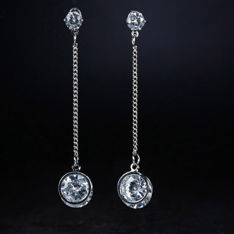 TJP Simple beautiful Middle East rhinestone ladies earrings long earrings ladies earrings