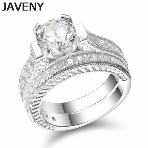 925 Sterling Silver Princess Cubic Zirconia Womens Girls Engagement Wedding Bridal Rings Sets Birthday Gifts 12pcs Lot Wholesale