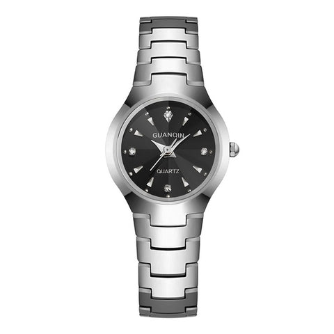 Fashion Brand Square GUANQIN Watch Woman Tungsten Steel Female Rhinestone Quartz Watch Women Wristwatches Woman Clock Watch Sale