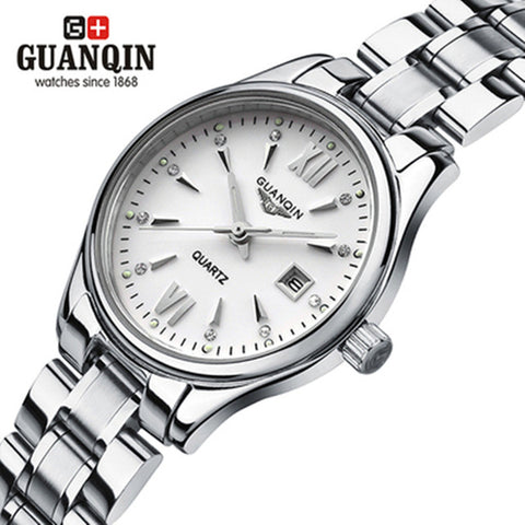 Luxury Brand Original GUANQIN Watch Woman Fashion Luxury Watch GUANQIN Quartz Watch Waterproof Dress Women Ladies Wristwatches