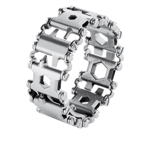 Stainless Steel Multifunction Bracelet & Bangle Multitool Bracelet Bangle Multi Tool Bracelets Strap Multi-function Screwdriver