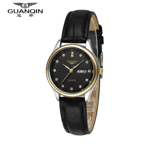 GUANQIN Watch Woman Sport Fashion Luxury Brand Watch Women Diamond Quartz Watch Dress Waterproof Sapphire Cheap Ladies Watches
