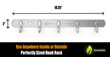 Load image into Gallery viewer, Stainless Steel 5 Hook Rack