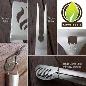 3 Piece Stainless Steel Grill Tool Set