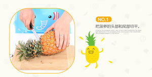 Silver Stainless Steel Pineapple Cutter, Pineapple Corer, Peeler,  Stem Remover, Blades for Diced Fruit Rings