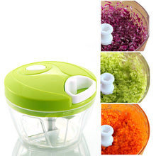 Multifunctional high-speed manual food chopper and meat grinder