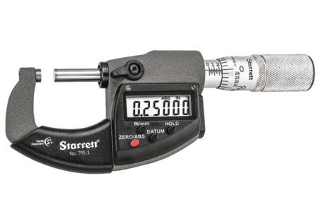 Starrett 795.1XFL-1 Electronic Micrometer with Output