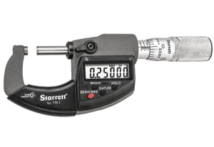 Starrett 796.1XFL-1 Electronic Micrometer with Output