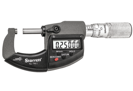 Starrett 796.1XRL-1 Electronic Micrometer with Output