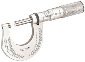 Starrett T230XFL Outside Micrometer