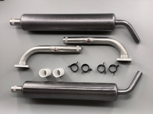 "JMB Canister Muffler and Exhaust Header Set for EF 105.5"" Slick 580 with GP-123 and smoke fitting"