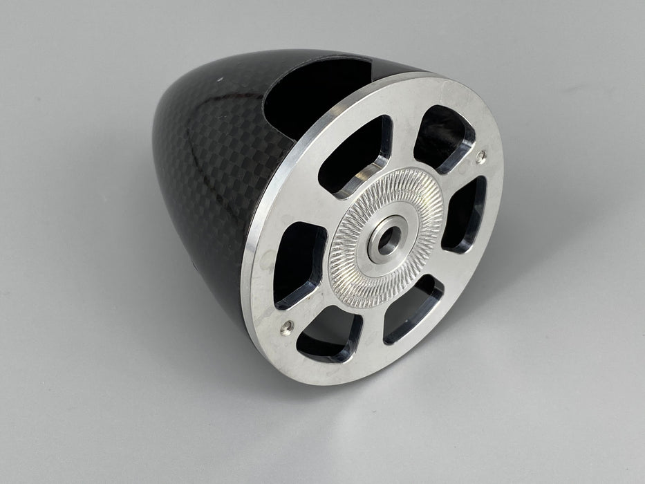 "C.F Spinner 1.75"" ( 45 mm ) Carbon  with Alloy base"