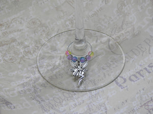 FAIRY Beaded Wine Charm