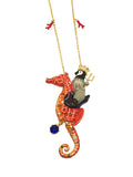 King Penguin & Seahorse Steed Necklace - cheeky-trendy