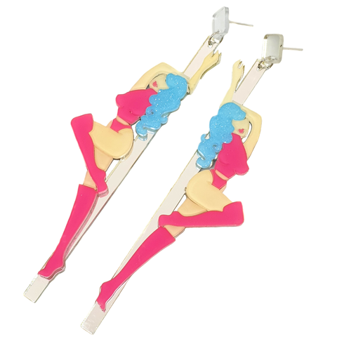 Private Dancer - Acrylic Statement Earrings