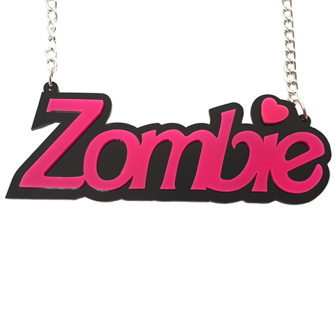 Cutie Pie Pink Zombie Necklace