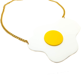 Sunny Side Up Egg Acrylic Necklace