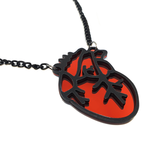 Be Still My Beating Heart! Acrylic Necklace