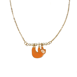 Cheeky Monkey! Enamel Necklace