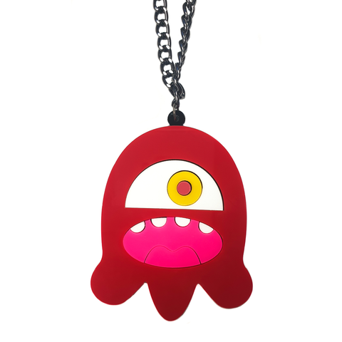 Cyclops Monster Acrylic Necklace