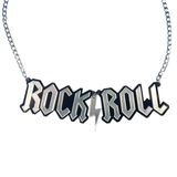I ♥ Rock N' Roll! Acrylic Statement Necklace