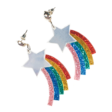 Rainbow Shooting Star Earrings