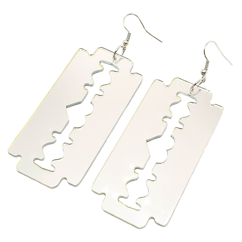 Mirror Razor Blade Earrings