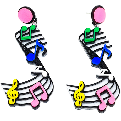 Symphony of Colour Earrings - cheeky-trendy