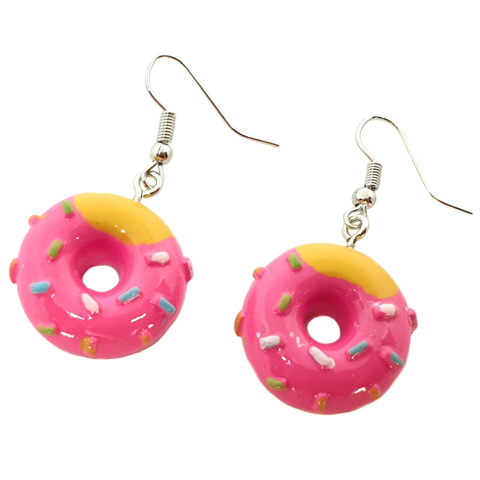 Tasty! Cute Pink Dinky Doughnut Earrings