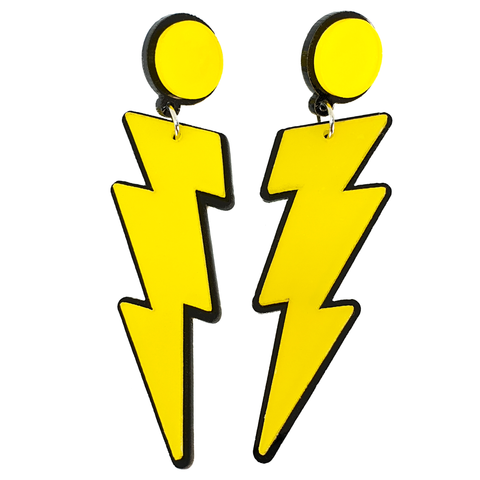 Z-Z-Zap! Lightning Bolt Earrings