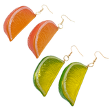 Juicy! Chunky Fruit Slice Earrings
