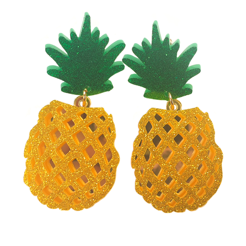 Glittery Pineapple Earrings