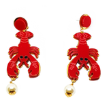 Sea Snipper - Acrylic Lobster Earrings - cheeky-trendy