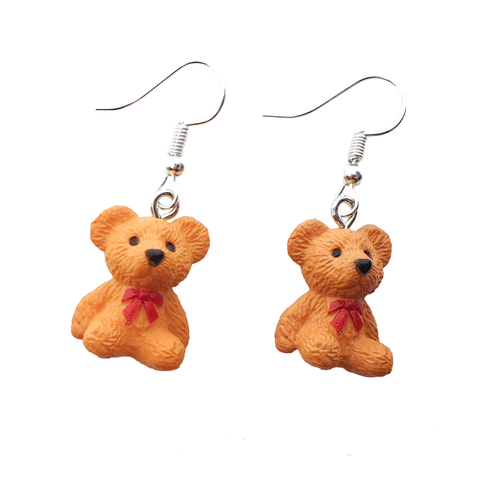 Fancy Teddy Bear Earrings