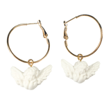 Cheeky Cherub Hoop Earrings