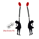 Red Balloon Earrings - cheeky-trendy
