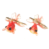 Goldfish Hoop Earrings