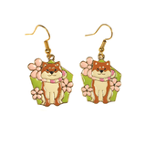 Such cute! Shiba Inu Dog Enamel Earrings