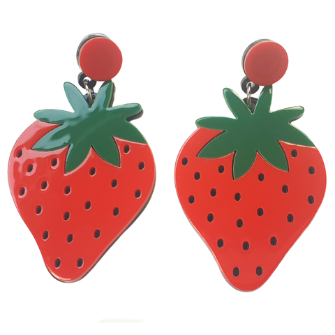 Acrylic Strawberry Earrings